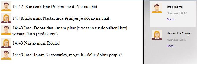 Aktivnost Chat