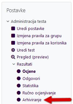 Test - izvoz pokušaja rješavanja